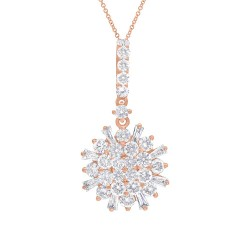 Madison E 1.15ct 14k Rose Gold Diamond Necklace