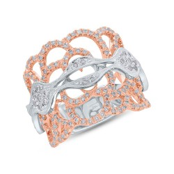 Madison E 0.76ct 18k Two-tone Rose Gold Diamond Lady