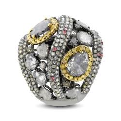 Madison E 5.18ct 18k White Gold Fancy Color Diamond Ring