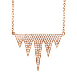 Madison E 0.44ct 14k Rose Gold Diamond Pave Necklace
