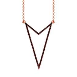 Madison E 0.25ct 14k Rose Gold Black Diamond Necklace