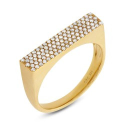 Madison E 0.30ct 14k Yellow Gold Diamond Pave Lady