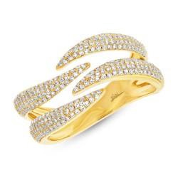 Madison E 0.59ct 14k Yellow Gold Diamond Pave Lady