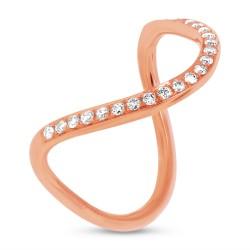 Madison E 0.21ct 14k Rose Gold Diamond Lady
