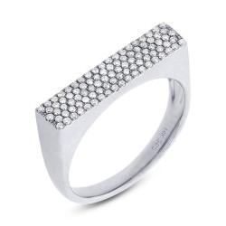 Madison E 0.30ct 14k White Gold Diamond Pave Lady