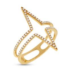 Madison E 0.26ct 14k Yellow Gold Diamond Lady