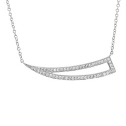 Madison E 0.26ct 14k White Gold Diamond Necklace
