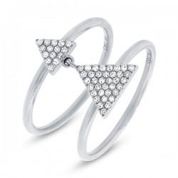 Madison E 0.17ct 14k White Gold Diamond Pave Triangle Ring