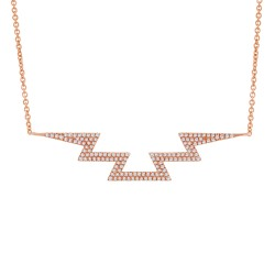 Madison E 0.33ct 14k Rose Gold Diamond Necklace