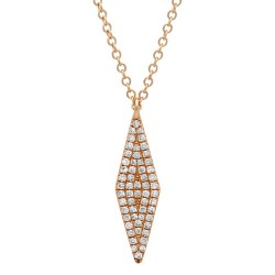 Madison E 0.17ct 14k Rose Gold Diamond Pave Pendant