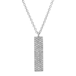Madison E 0.25ct 14k White Gold Diamond Pave Pendant
