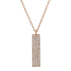 Madison E 0.25ct 14k Rose Gold Diamond Pave Pendant