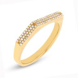 Madison E 0.15ct 14k Yellow Gold Diamond Pave Lady