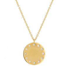 Madison E 0.09ct 14k Yellow Gold Diamond Pendant