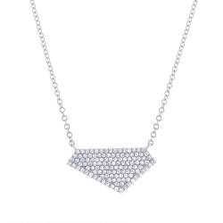 Madison E 0.28ct 14k White Gold Diamond Pave Necklace