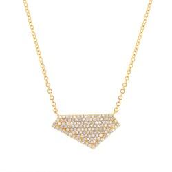 Madison E 0.28ct 14k Yellow Gold Diamond Pave Necklace