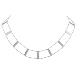 Madison E 0.71ct 14k White Gold Diamond Ladder Necklace