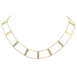 Madison E 0.71ct 14k Yellow Gold Diamond Ladder Necklace