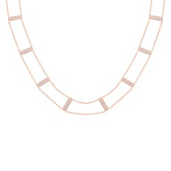 Madison E 0.71ct 14k Rose Gold Diamond Ladder Necklace