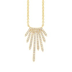 Madison E 0.24ct 14k Yellow Gold Diamond Necklace