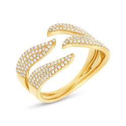 Madison E 0.50ct 14k Yellow Gold Diamond Pave Lady