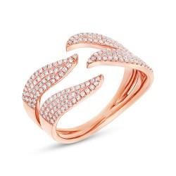 Madison E 0.50ct 14k Rose Gold Diamond Pave Lady
