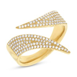 Madison E 0.42ct 14k Yellow Gold Diamond Pave Lady