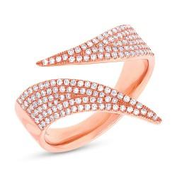Madison E 0.42ct 14k Rose Gold Diamond Pave Lady