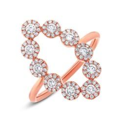 Madison E 0.72ct 14k Rose Gold Diamond Lady