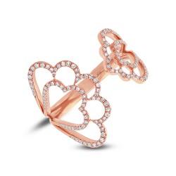 Madison E 0.31ct 14k Rose Gold Diamond Lady
