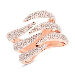 Madison E 0.86ct 14k Rose Gold Diamond Pave Lady