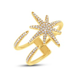 Madison E 0.26ct 14k Yellow Gold Diamond Lady