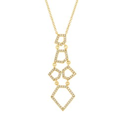 Madison E 0.28ct 14k Yellow Gold Diamond Necklace