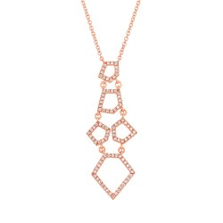Madison E 0.28ct 14k Rose Gold Diamond Necklace