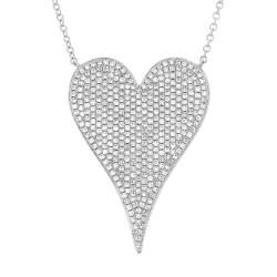 Madison E 0.83ct 14k White Gold Diamond Heart Necklace