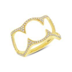 Madison E 0.23ct 14k Yellow Gold Diamond Lady