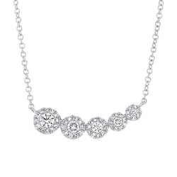 Madison E 0.32ct 14k White Gold Diamond Necklace