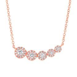 Madison E 0.32ct 14k Rose Gold Diamond Necklace