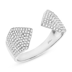Madison E 0.55ct 14k White Gold Diamond Pave Lady