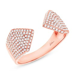 Madison E 0.55ct 14k Rose Gold Diamond Pave Lady