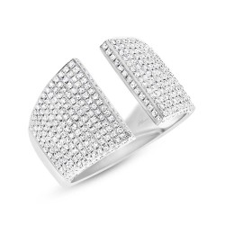 Madison E 0.92ct 14k White Gold Diamond Pave Lady