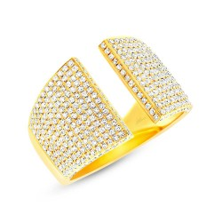 Madison E 0.92ct 14k Yellow Gold Diamond Pave Lady