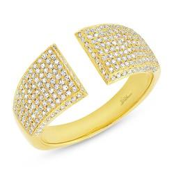 Madison E 0.60ct 14k Yellow Gold Diamond Pave Lady