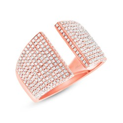 Madison E 0.92ct 14k Rose Gold Diamond Pave Lady