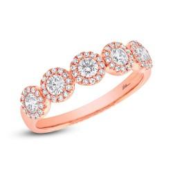 Madison E 0.57ct 14k Rose Gold Diamond Lady