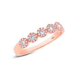 Madison E 0.25ct 14k Rose Gold Diamond Lady