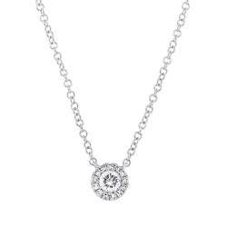 Madison E 0.14ct 14k White Gold Diamond Pendant