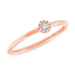Madison E 0.07ct 14k Rose Gold Diamond Lady
