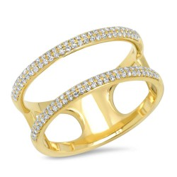 Madison E 0.30ct 14k Yellow Gold Diamond Lady