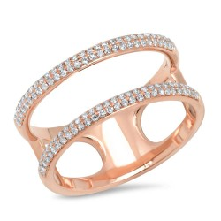 Madison E 0.30ct 14k Rose Gold Diamond Lady